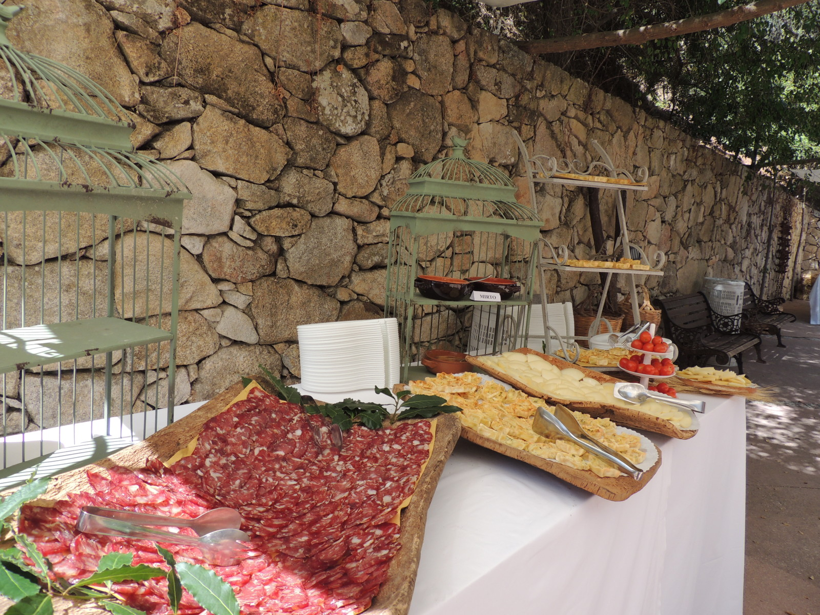 i buffet nel cotile